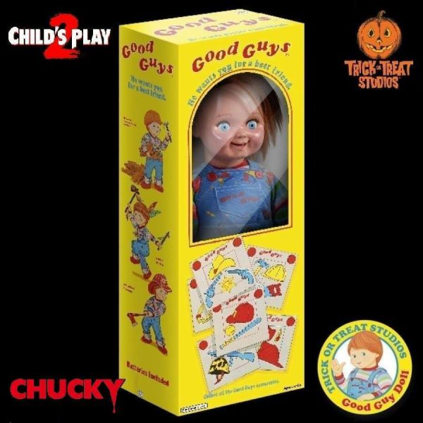 """Chucky """"Trick Or Treat"""" Child's Play 2 Good Guys Doll 1:1 Replica Figuur 76 cm"""
