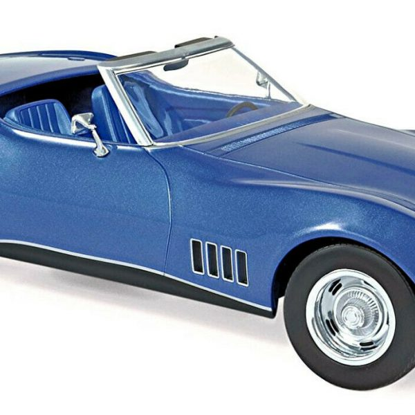 Chevrolet Corvette Convertible 1969 C3 Stingray Blauw 1:18 Norev