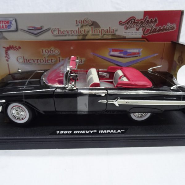 Chevrolet Impala 1960 Roadster Zwart 1-18 Motormax