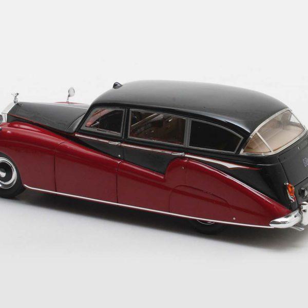 Rolls-Royce Freestone & Webb Silver Wraith Limousine #FLW26 1957 Maroon/Zwart 1-43 Matrix Scale Models Limited 408 pcs.
