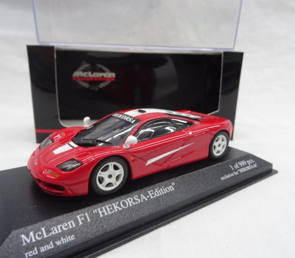 "McLaren F1 ""Hekorsa-Edition"" 1-43 Rood/Wit Minichamps Limited 999 pcs."