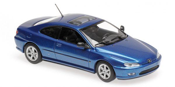 Peugeot 406 Coupe Blauw 1-43 Maxichamps
