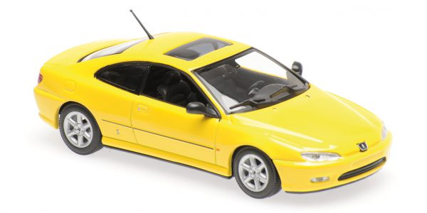 Peugeot 406 Coupe Geel 1-43 Maxichamps