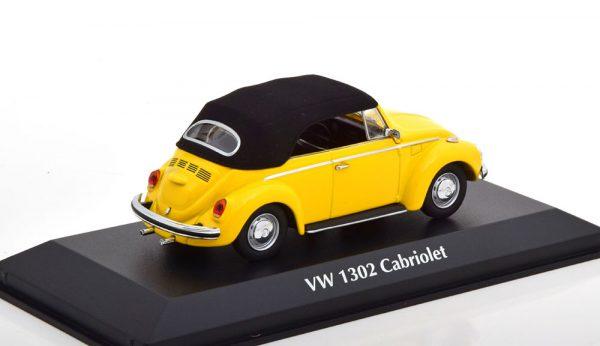 Volkswagen Kever 1302 Cabriolet 1970 Geel 1-43 Maxichamps