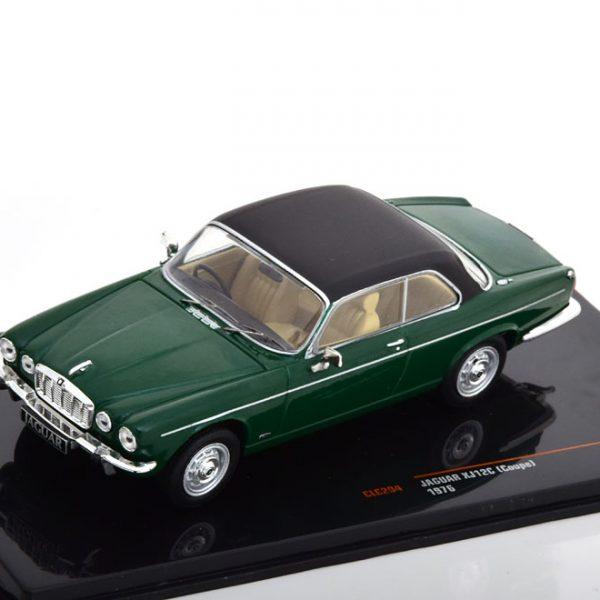 Jaguar XJ 12 Coupe 1976 Groen / Zwart 1-43 Ixo Models
