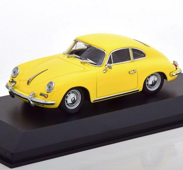 Porsche 356 B Coupe 1961 Geel 1-43 Maxichamps