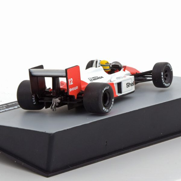 McLaren Honda MP4/4 GP San Marino 1988, World Champion Aryton Senna 1-43 Atlas F1 Brazilian Collection