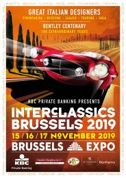 InterClassics Brussels in Brussels Expo 15-17 November 2019