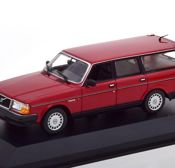 Volvo 240 GL Kombi 1986 Donker rood Metallic 1-43 Maxichamps