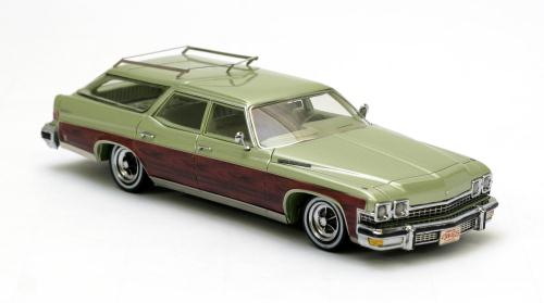 Buick Station Wagon 1974 Groen metallic/Bruin 1-43 Neo Scale Models