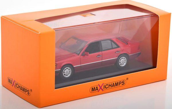 Mercedes-Benz 230E ( W124) Limousine 1991 Rood 1-43 Maxichamps