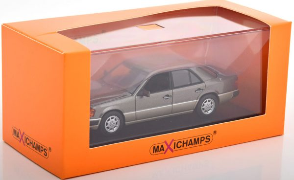 Mercedes-Benz 230E ( W124) Limousine 1991 Grijs Metallic 1-43 Maxichamps