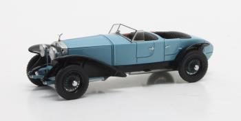 Rolls-Royce Phantom Experimental Vehicle #10EX by Barker 1926 Zwart/Blauw 1-43 Matrix Scale Models Limited 408 pcs.