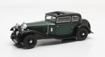 Bentley 8 Litre Mayfair Close Coupled Saloon #YX5124 1932 Zwart/Groen Matrix Scale Models