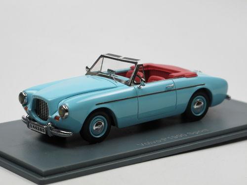 Volvo 1900 Sport 1956 Blauw 1-43 Neo Scale Models