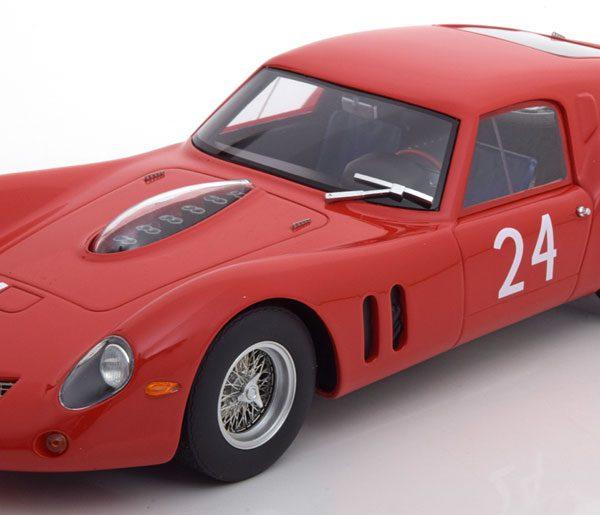 Ferrari 250 GT Drogo No.24, Le Mans Test 1963 Elde/Beurlys/vanOphem Rood 1-18 CMR Models