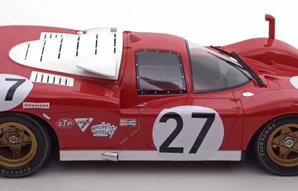 Ferrari 512S No.27, 24h Daytona 1970 Ickx/Schetty Rood 1-18 CMR Models