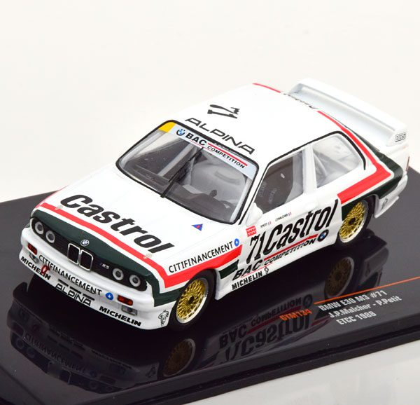 BMW M3 E30 No.71, ETCC 1988 Malcher/Petit 1-43 Ixo Models
