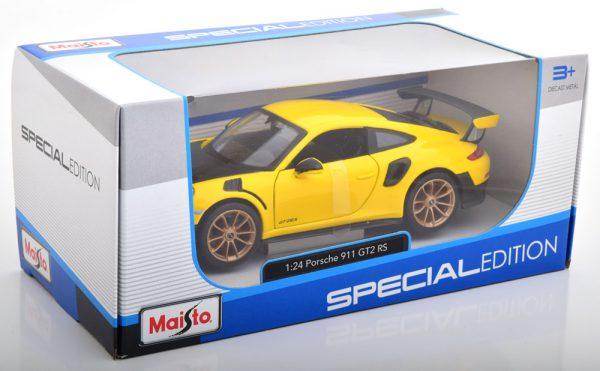 Porsche 911 (991 II) GT2 RS 2018 Geel / Zwart 1-24 Maisto