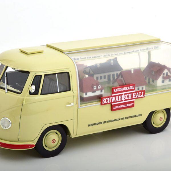 """Volkswagen T1 Bus """"Schwäbisch Hall""""Beige / Rood 1-18 Schuco ProR Limited 500 Pieces"""
