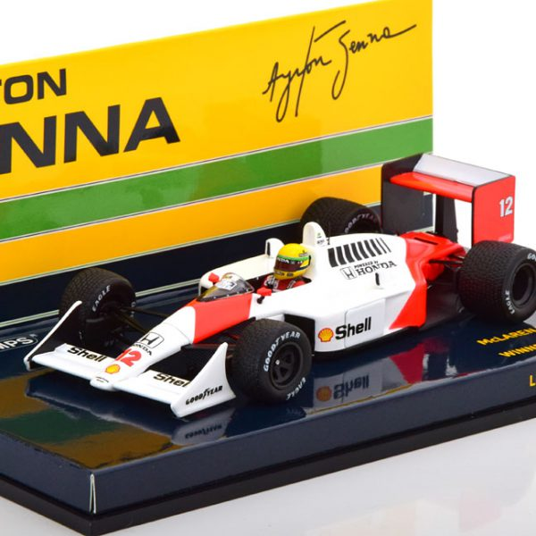 McLaren Honda MP4/4 Aryton Senna Brazilian GP 1988 Minichamps 1-43 Limited 400 Pieces