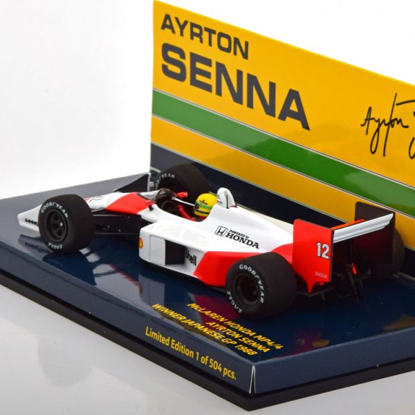 McLaren Honda MP4/4 Winner GP Japan 1988 A.Senna ( met Decals ) 1-43 Minichamps Limited 504 Pieces