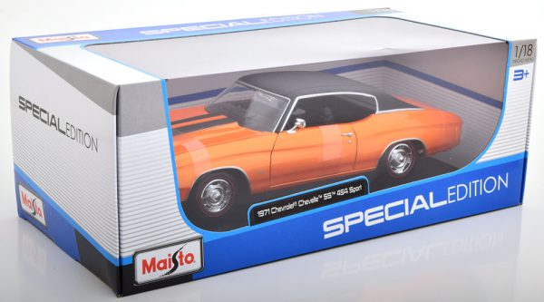 Chevrolet Chevelle SS 454 Sport Coupe 1971 Metallic Oranje 1-18 Maisto