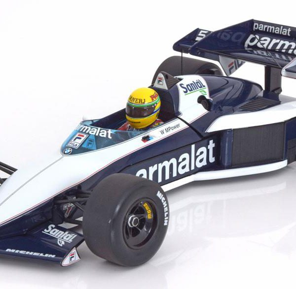 Brabham BMW BT52B Test Car Paul Ricard Nov.14th 1983 Aryton Senna 1-18 Minichamps