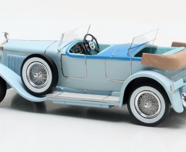 Hispano Suiza H6B Million-Guiet Dual Cowl Phaeton 1924 Blauw 1-43 Matrix Scale Models Louwman Collection Limited 408 pcs.
