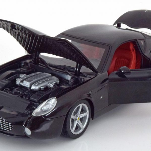 Ferrari 575 GTZ by Zagato 2006 1-18 Zwart Hotwheels