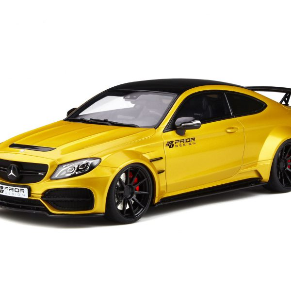 "Mercedes-Benz C Class 63 AMG Coupe ""Prior Design PD65CC"" Geel Metallic 1-18 GT Spirit Limited 999 Pieces"