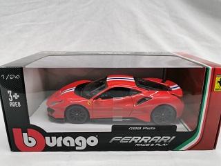 Ferrari 488 Pista 2018 Rood 1-24 Burago Race & Play