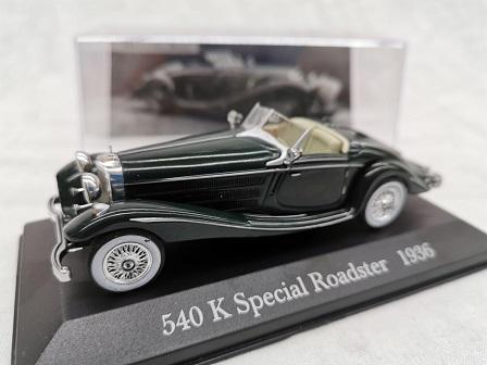 Mercedes 540 K Special Roadster 1936 Groen Altaya Mercedes Collection