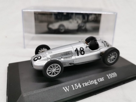 Mercedes-Benz W 154 Racing Car Nr # 18 1939 Zilver 1-43 Altaya Mercedes Collection