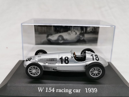 Mercedes-Benz W 154 Racing Car Nr # 18 1939 Zilver 1-43 Altaya Mercedes Collection