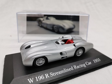 Mercedes-Benz W 196 R Streamlined Racing Car 1955 Zilver 1-43 Altaya Mercedes Collection