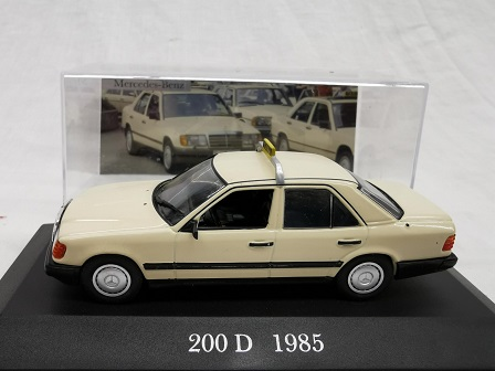 Mercedes-Benz 200 D ( W124 ) 1985 Taxi Beige 1-43 Altaya Mercedes Collection