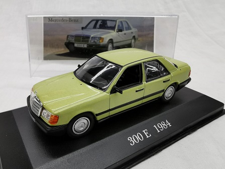 Mercedes-Benz 300 E 1984 ( W124) Groen 1-43 Altaya Mercedes Collection