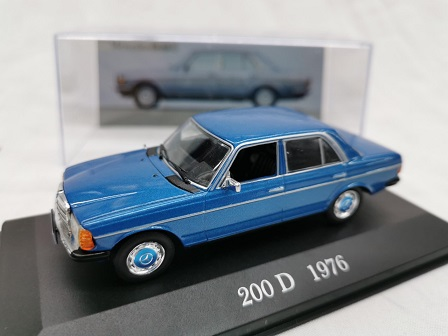 Mercedes-Benz 200 D 1976 ( W123 ) Blauw 1-43 Altaya Mercedes Collection