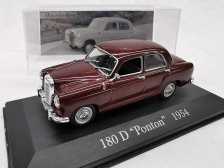 "Mercedes-Benz 180 D ""Ponton ""1954 Bordeaux Rood 1-43 Altaya Mercedes Collection"