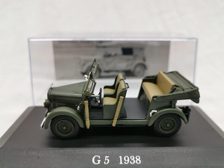Mercedes-Benz G5 1938 Groen 1-43 Altaya Mercedes Collection