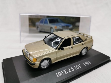 Mercedes-Benz 190 E 2.3-16V 1984 Brons Metallic 1-43 Altaya Mercedes Collection