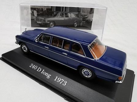 Mercedes-Benz 240 D Long 1973 Blauw 1-43 Altaya Mercedes Collection
