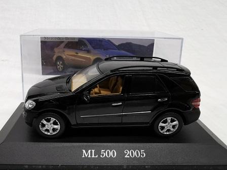 Mercedes-Benz ML 500 2005 Zwart 1-43 Altaya Mercedes Collection