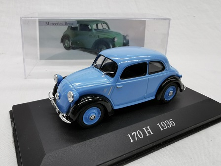 Mercedes-Benz 170 H 1936 Blauw 1-43 Altaya Mercedes Collection