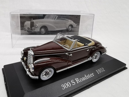 Mercedes-Benz 300 S Roadster 1952 Bordeaux Rood 1-43 Altaya Mercedes Collection