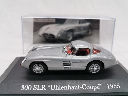 "Mercedes-Benz 300 SLR ""Uhlenhaut-Coupe ""1955 Zilver 1-43 Altaya Mercedes Collection"