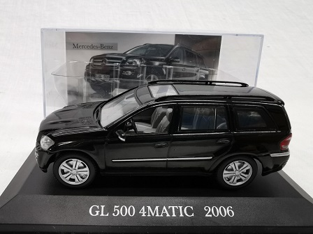 Mercedes-Benz GL 500 4Matic 2006 Zwart 1-43 Altaya Mercedes Collection