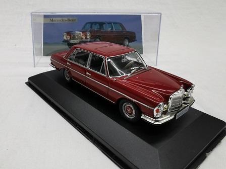 Mercedes-Benz 300 SEL 6.3 ( W109 ) 1968 Bordeaux Rood 1-43 Altaya Mercedes Collection