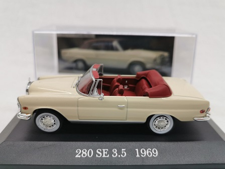 Mercedes-Benz 280 SE 3.5 Cabriolet ( W 111 )1969 Beige 1-43 Altaya Meredes Collection
